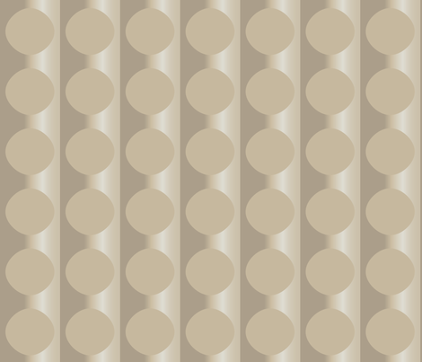 Beige Floating Ovals © Gingezel™ 2011 fabric by gingezel on Spoonflower - custom fabric