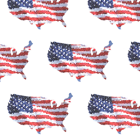 Star Spangled fabric by aftermyart on Spoonflower - custom fabric