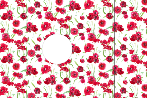 Hankie poppy dress template/pattern fabric by katarina on Spoonflower - custom fabric