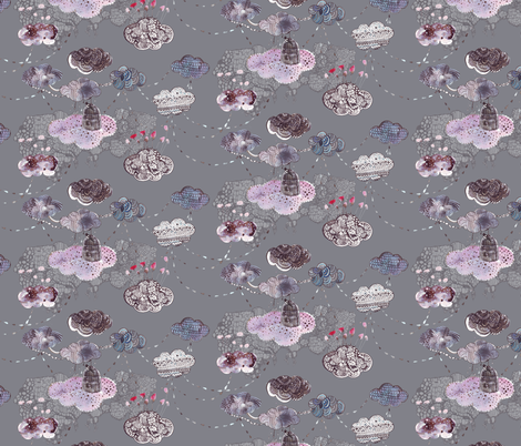 clouds_grey fabric by katarina on Spoonflower - custom fabric