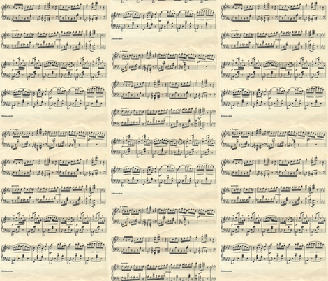 vintage sheet musical notes fabric by katarina on Spoonflower - custom fabric