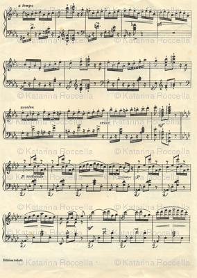 vintage sheet musical notes