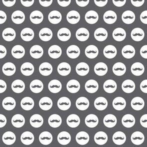 mustache dots grey