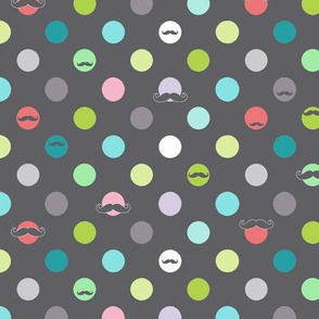 happy mustache dots