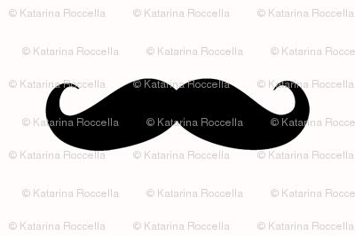 mustache black on white