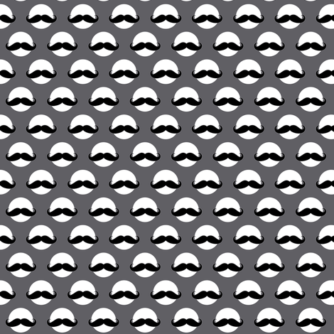 mustache dot fabric by katarina on Spoonflower - custom fabric