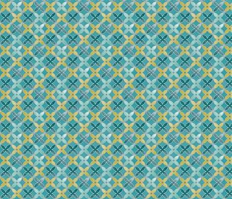 Garden geometric fabric by cjldesigns on Spoonflower - custom fabric
