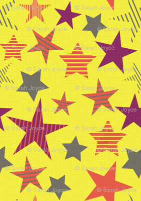 linen_stars_yellow