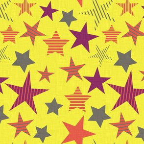 linen_stars_yellow