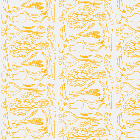 Garden Collage Carrot-ch fabric by thehighfiber on Spoonflower - custom fabric