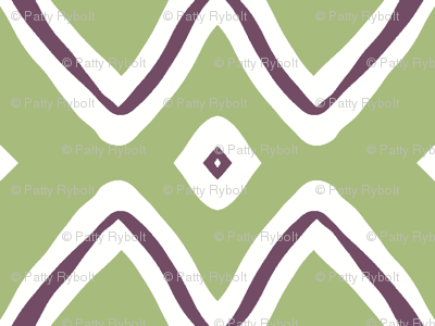 Diamonds! (plum & sage)