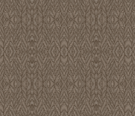 Brown and Beige Leaf Look © Gingezel™ 2010 fabric by gingezel on Spoonflower - custom fabric