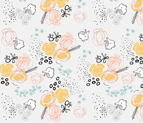 RABBITS fabric by weegallery on Spoonflower - custom fabric