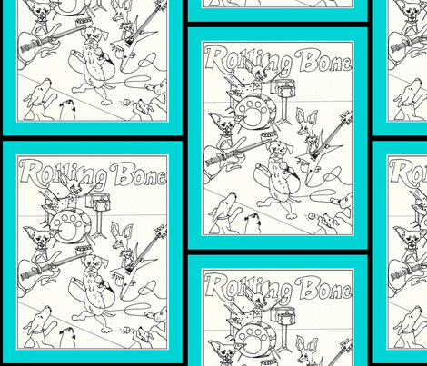cover of Rolling Bone-ed fabric by cfishdesign on Spoonflower - custom fabric