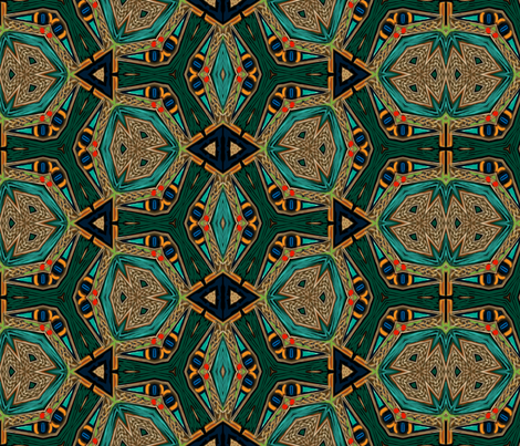 Celtic Bravery Stained Glass Windows fabric by wren_leyland on Spoonflower - custom fabric