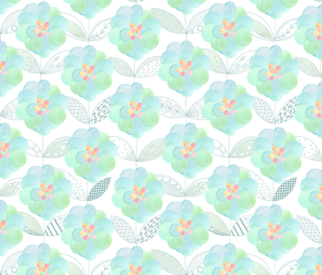 Flora fabric by kayajoy on Spoonflower - custom fabric