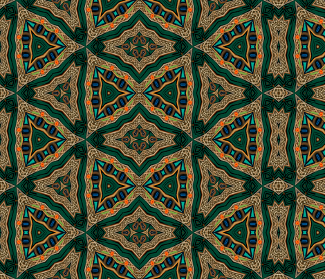Squiggly Celtic Knots and Not-So-Brave Triangles fabric by wren_leyland on Spoonflower - custom fabric