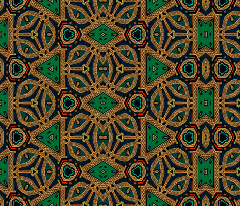 Celtic Crown Jewels fabric by wren_leyland on Spoonflower - custom fabric