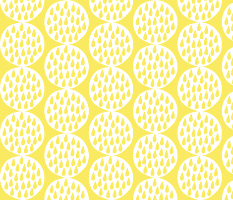 Drop Circles_yellow fabric by alihenrie on Spoonflower - custom fabric