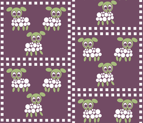 Little Sheeple fabric by vaslittlecrow on Spoonflower - custom fabric