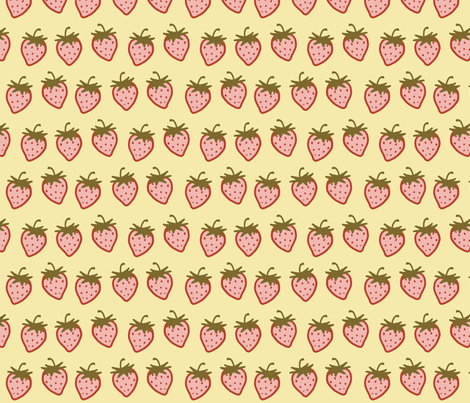 Cutie Strawberry Pattern Small fabric by ophelia on Spoonflower - custom fabric