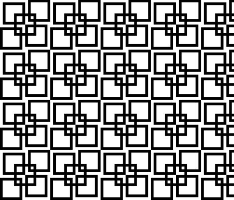 Wobble Lattice Pattern - Black On White fabric by ophelia on Spoonflower - custom fabric
