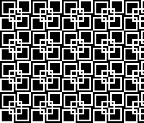 Wobble Lattice Pattern - White On Black fabric by ophelia on Spoonflower - custom fabric