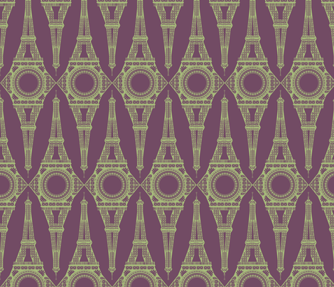 Belle Tour fabric by bussybuffu on Spoonflower - custom fabric
