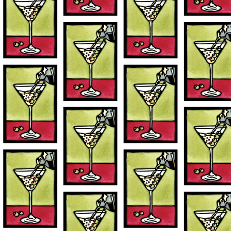 Dirty_Martini_White fabric by sarah_angst_arts on Spoonflower - custom fabric