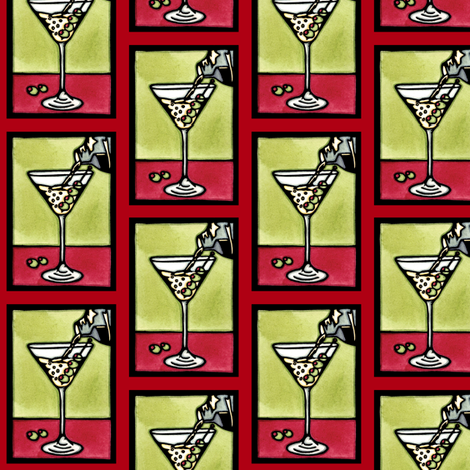 Dirty_Martini_Red fabric by sarah_angst_arts on Spoonflower - custom fabric