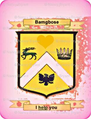 Bamgbose_Family_Crest_001-chwith pink background-ed