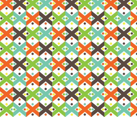 Exes fabric by eedeedesignstudios on Spoonflower - custom fabric