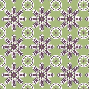 Green and purple geometric design