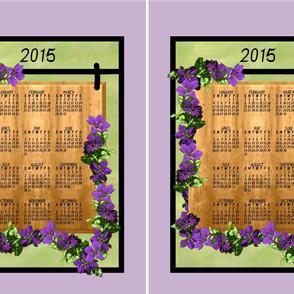 Clematis calendar pair