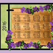 Clematis Vine Calendar Sign 2016 h