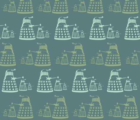 Daleks fabric by dogsndubs on Spoonflower - custom fabric