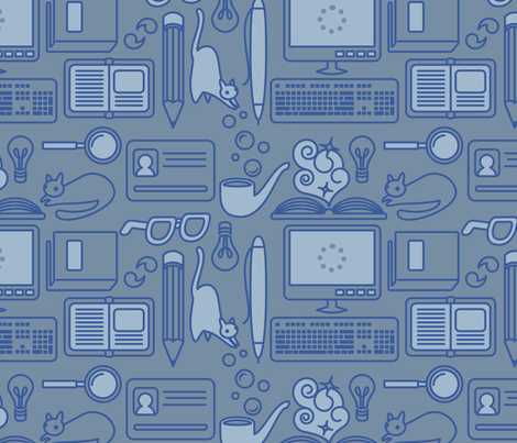 cats got your tounge fabric by annaboo on Spoonflower - custom fabric