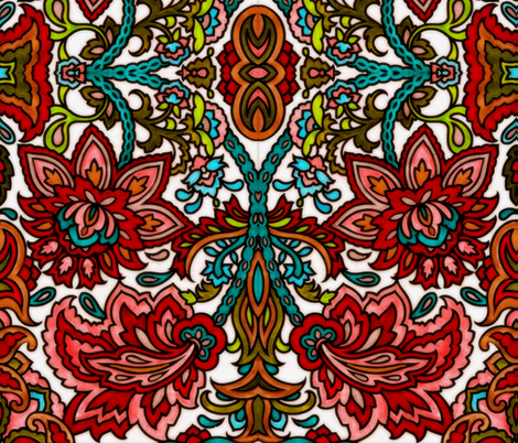 Large Paisley fabric by whimzwhirled on Spoonflower - custom fabric