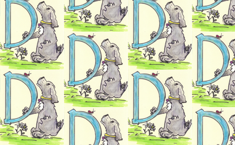 D-IS FOR DOG fabric by cfishdesign on Spoonflower - custom fabric