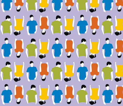 T Shirt People fabric by dogsndubs on Spoonflower - custom fabric
