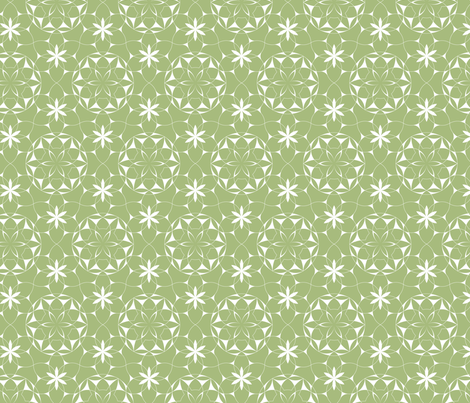 Lacey_web_of_flowers (green) fabric by andrea11 on Spoonflower - custom fabric