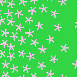 jumbo_stars_42wide_rose_on_green