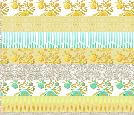 WOF Strip Yard_Granada morning fabric by bee&lotus on Spoonflower - custom fabric
