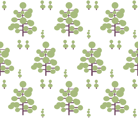 Geometric Topiary fabric by stepanic on Spoonflower - custom fabric