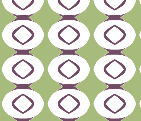 Circle Stripe 1 (plum & sage) fabric by pattyryboltdesigns on Spoonflower - custom fabric