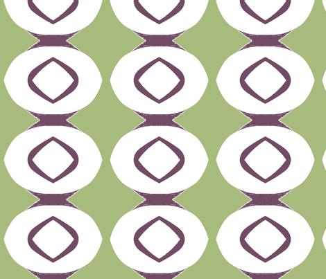 Circle Stripe 1 (plum & sage) fabric by pattyryboltdesigns on Spoonflower - custom fabric