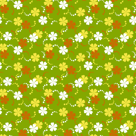 Citrusy-Ditsy Flowers fabric by siya on Spoonflower - custom fabric