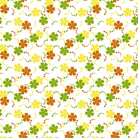 Citrusy-Ditsy Flowers on White fabric by siya on Spoonflower - custom fabric