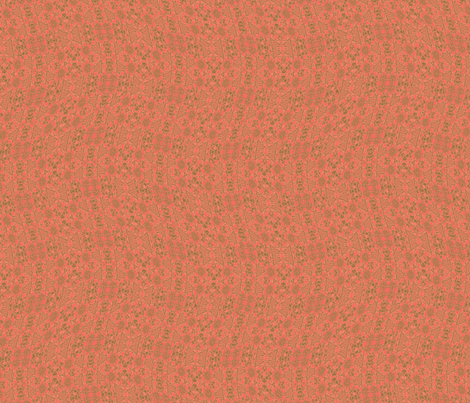 Wavy Coral and Greens fabric by wren_leyland on Spoonflower - custom fabric