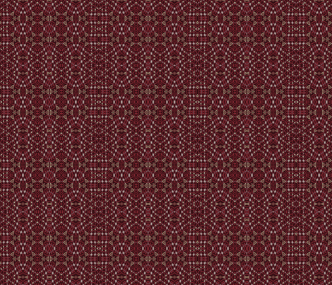 hunt-rose-red_beads fabric by wren_leyland on Spoonflower - custom fabric
